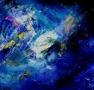L univers Huile sur toile Juillet 2015 96cm/100cm