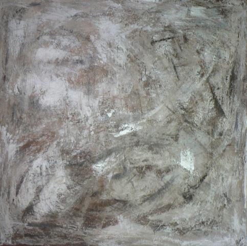 Brume Acrylique sur toile 1m sur 1m