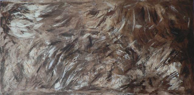 Fauve Acrylique sur toile 1m sur 2m