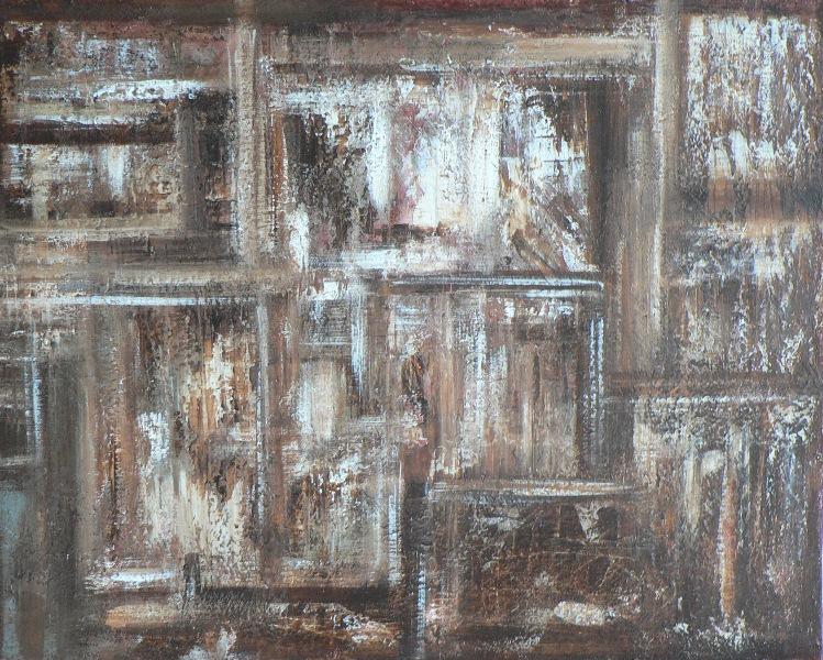 Ruine Acrylique sur toile 65cm sur 81cm