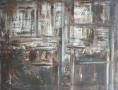 Tribal Acrylique sur toile 116cm sur 89cm non disponible