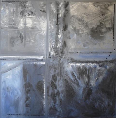 Quartz. Acrylique 1m sur 1m Paris 2010.JPG