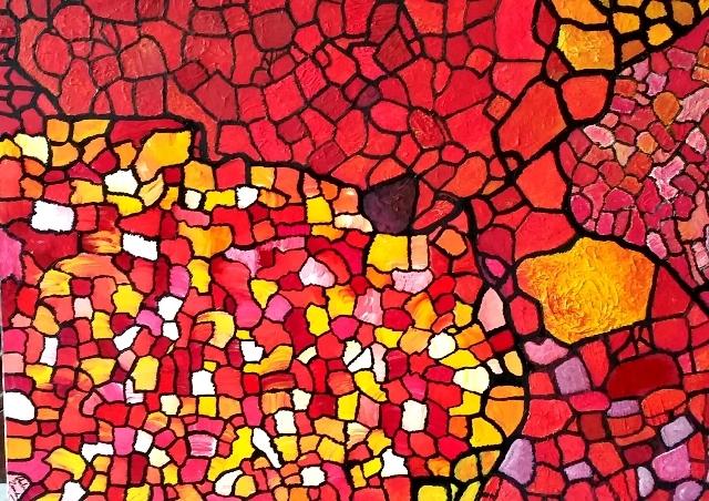 Cartographie 2 Acrylique 60/80cm Jouy 2002