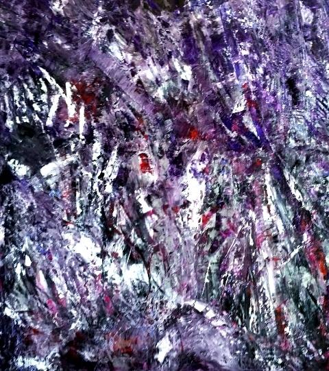 Hallucinations Huile sur toile 1m96 sur 80cm collias aout 2015