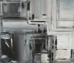 Nuageux Acrylique sur toile 81 cm sur 100cm