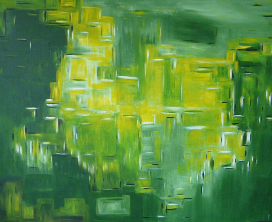 Prairie acrylique 80cm/ 100cm Jouy 2010