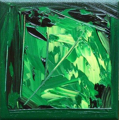 Grenouillère Huile sur toile 12/12cm Collias 2011